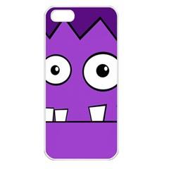 Halloween Frankenstein - Purple Apple iPhone 5 Seamless Case (White)