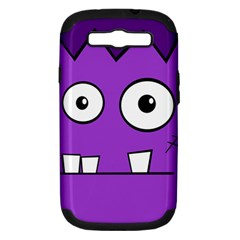Halloween Frankenstein - Purple Samsung Galaxy S III Hardshell Case (PC+Silicone)
