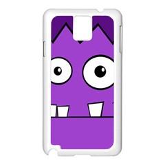 Halloween Frankenstein - Purple Samsung Galaxy Note 3 N9005 Case (White)