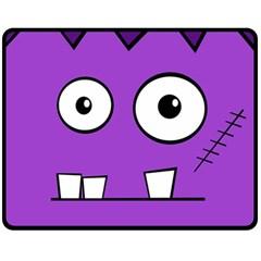 Halloween Frankenstein - Purple Double Sided Fleece Blanket (Medium)