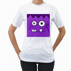Halloween Frankenstein - Purple Women s T-Shirt (White)