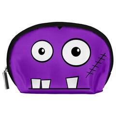Halloween Frankenstein - Purple Accessory Pouches (Large)