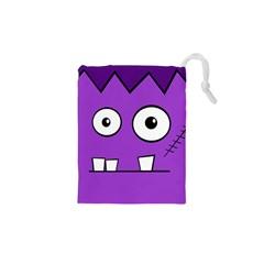 Halloween Frankenstein - Purple Drawstring Pouches (XS)