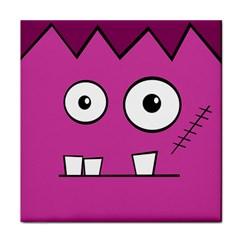 Halloween Frankenstein - pink Tile Coasters