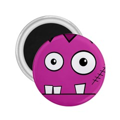 Halloween Frankenstein - pink 2.25  Magnets