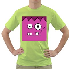 Halloween Frankenstein - pink Green T-Shirt