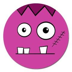 Halloween Frankenstein - pink Magnet 5  (Round)