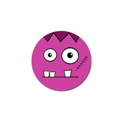 Halloween Frankenstein - pink Golf Ball Marker