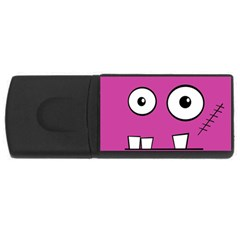 Halloween Frankenstein - pink USB Flash Drive Rectangular (1 GB)