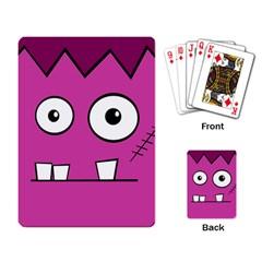 Halloween Frankenstein - pink Playing Card