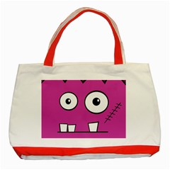 Halloween Frankenstein - pink Classic Tote Bag (Red)