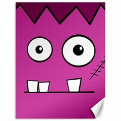 Halloween Frankenstein - pink Canvas 12  x 16