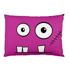 Halloween Frankenstein - pink Pillow Case