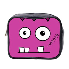 Halloween Frankenstein - pink Mini Toiletries Bag 2-Side