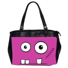 Halloween Frankenstein - pink Office Handbags (2 Sides)