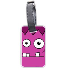Halloween Frankenstein - pink Luggage Tags (Two Sides)