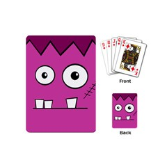 Halloween Frankenstein - pink Playing Cards (Mini)