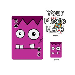 Halloween Frankenstein - pink Playing Cards 54 (Mini)