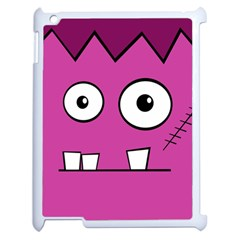 Halloween Frankenstein - pink Apple iPad 2 Case (White)