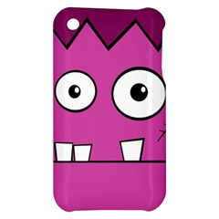 Halloween Frankenstein - pink Apple iPhone 3G/3GS Hardshell Case