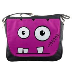 Halloween Frankenstein - pink Messenger Bags