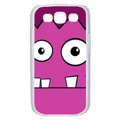 Halloween Frankenstein - pink Samsung Galaxy S III Case (White)