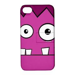 Halloween Frankenstein - pink Apple iPhone 4/4S Hardshell Case with Stand