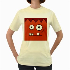 Halloween Frankenstein - Red Women s Yellow T-Shirt