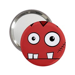 Halloween Frankenstein - Red 2.25  Handbag Mirrors