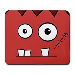 Halloween Frankenstein - Red Large Mousepads