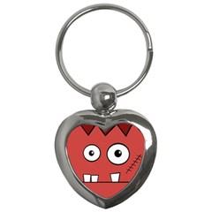 Halloween Frankenstein - Red Key Chains (Heart)