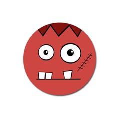 Halloween Frankenstein - Red Magnet 3  (Round)