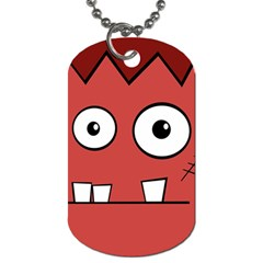 Halloween Frankenstein - Red Dog Tag (Two Sides)