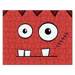 Halloween Frankenstein - Red Rectangular Jigsaw Puzzl