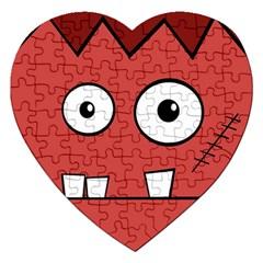 Halloween Frankenstein - Red Jigsaw Puzzle (Heart)