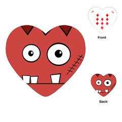 Halloween Frankenstein - Red Playing Cards (Heart)
