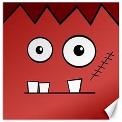 Halloween Frankenstein - Red Canvas 20  x 20