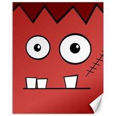 Halloween Frankenstein - Red Canvas 11  x 14