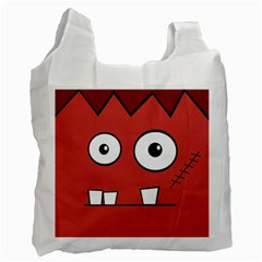 Halloween Frankenstein - Red Recycle Bag (One Side)