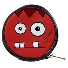 Halloween Frankenstein - Red Mini Makeup Bags