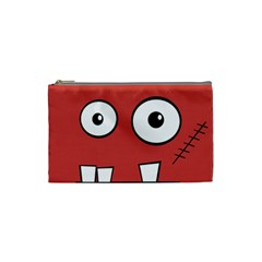 Halloween Frankenstein - Red Cosmetic Bag (Small)