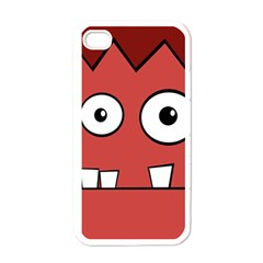 Halloween Frankenstein - Red Apple iPhone 4 Case (White)