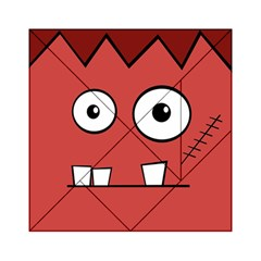 Halloween Frankenstein - Red Acrylic Tangram Puzzle (6  x 6 )