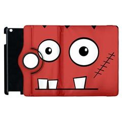Halloween Frankenstein - Red Apple iPad 2 Flip 360 Case
