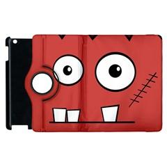 Halloween Frankenstein - Red Apple iPad 3/4 Flip 360 Case