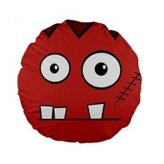 Halloween Frankenstein - Red Standard 15  Premium Round Cushions