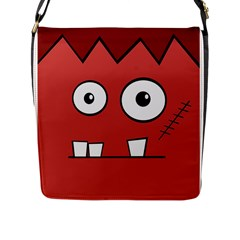 Halloween Frankenstein - Red Flap Messenger Bag (L)