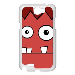 Halloween Frankenstein - Red Samsung Galaxy Note 2 Case (White)