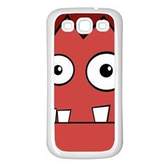 Halloween Frankenstein - Red Samsung Galaxy S3 Back Case (White)