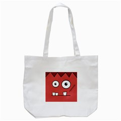 Halloween Frankenstein - Red Tote Bag (White)